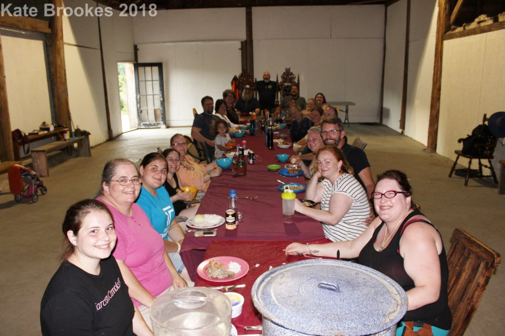 Members and friends of the Freehold gathered at Husel (sacred feast) during the 2018 Althing.